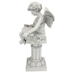 British Reading Fairy Garden Statue