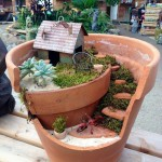 Broken Clay Pot Fairy Garden