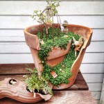 Broken Plant Pot Fairy Garden