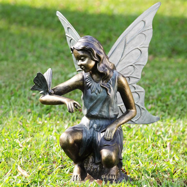 Bronze Fairy Garden Statues