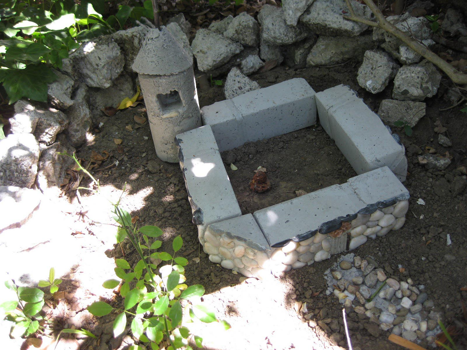 Concrete Fairy Garden Houses