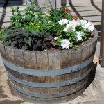 DIY Wooden Barrel Planters