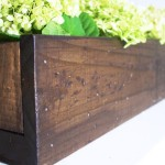 DIY Wooden Box Planter 2