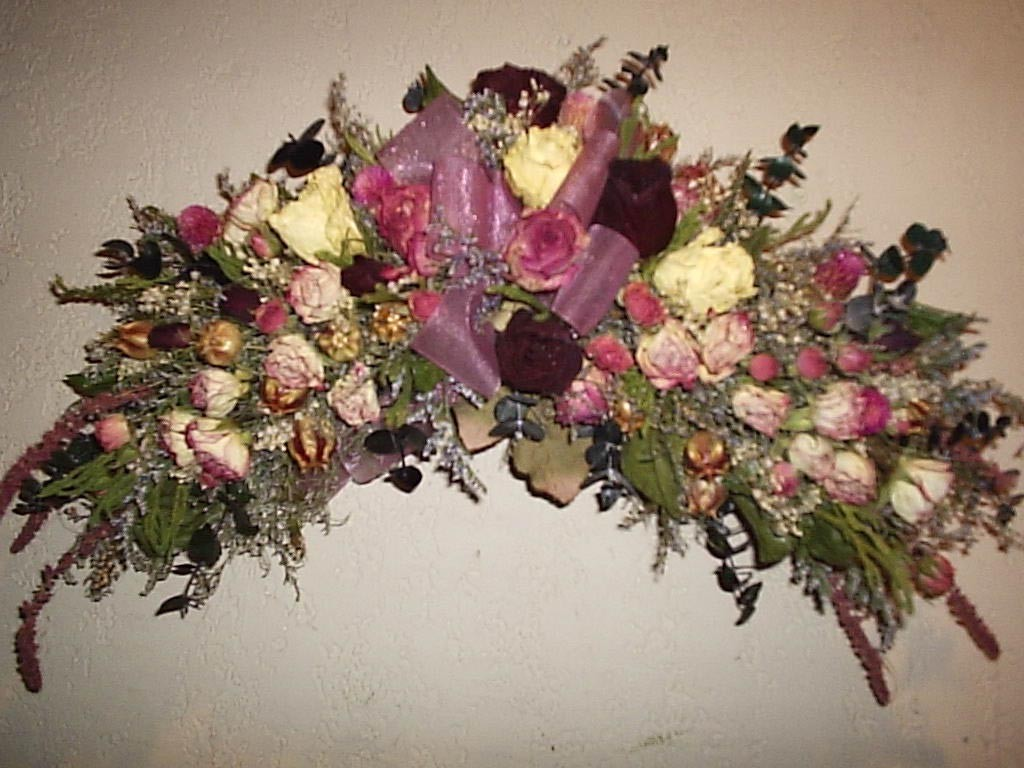 Dried Flower Arrangements for Fireplace