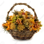 Dried Flower Basket Arrangements