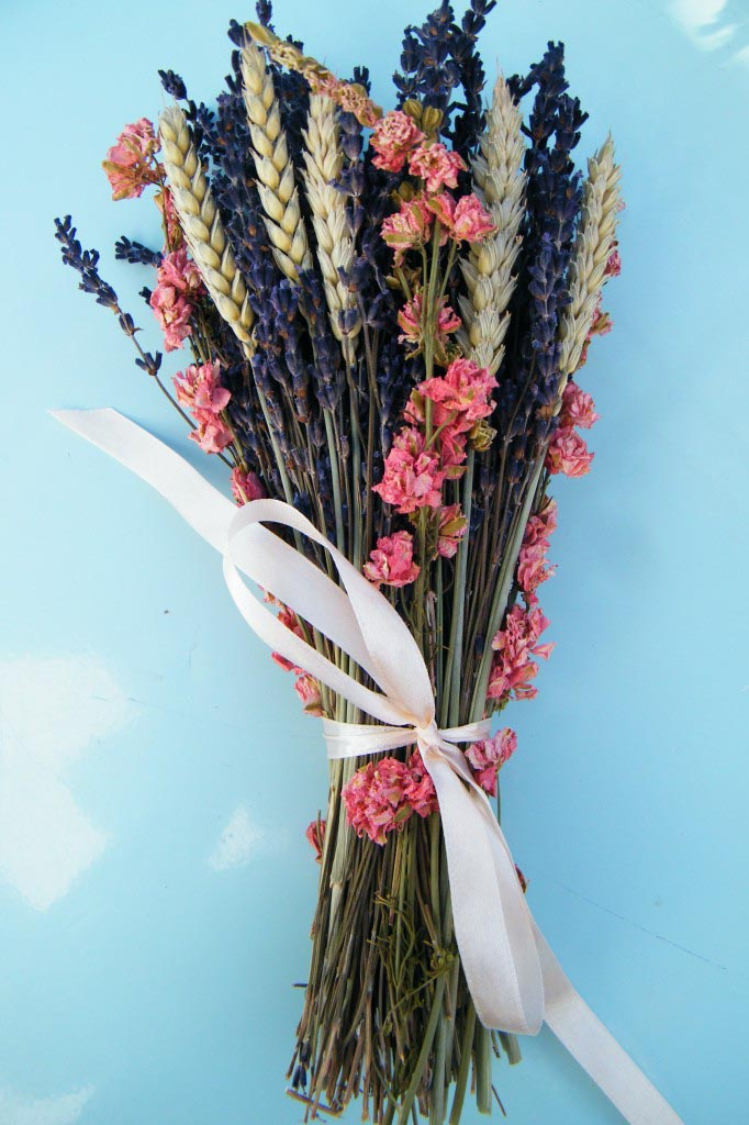 Dried Lavender Flower Arrangements