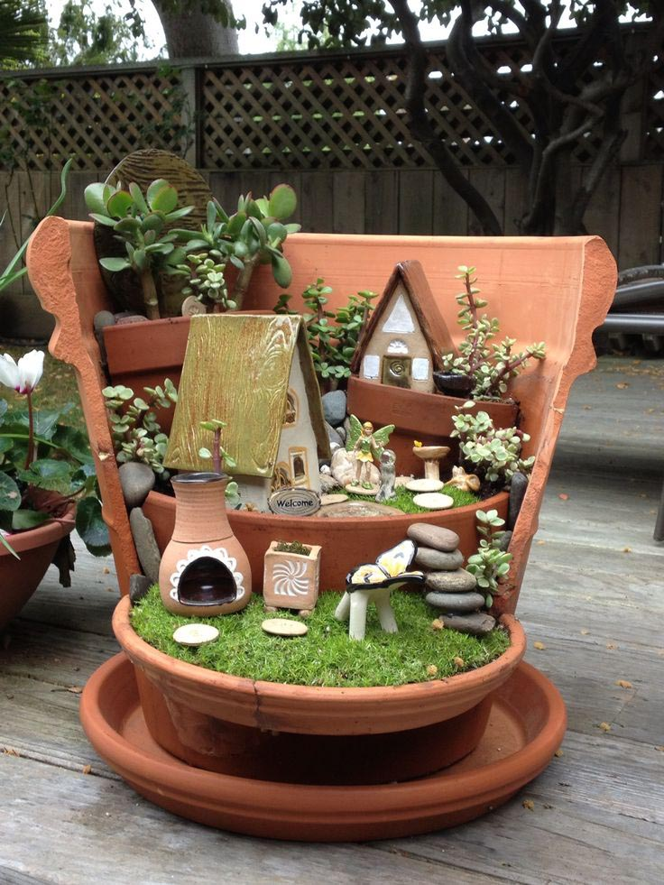 Fairy Garden Plant Pot Garden Design Ideas