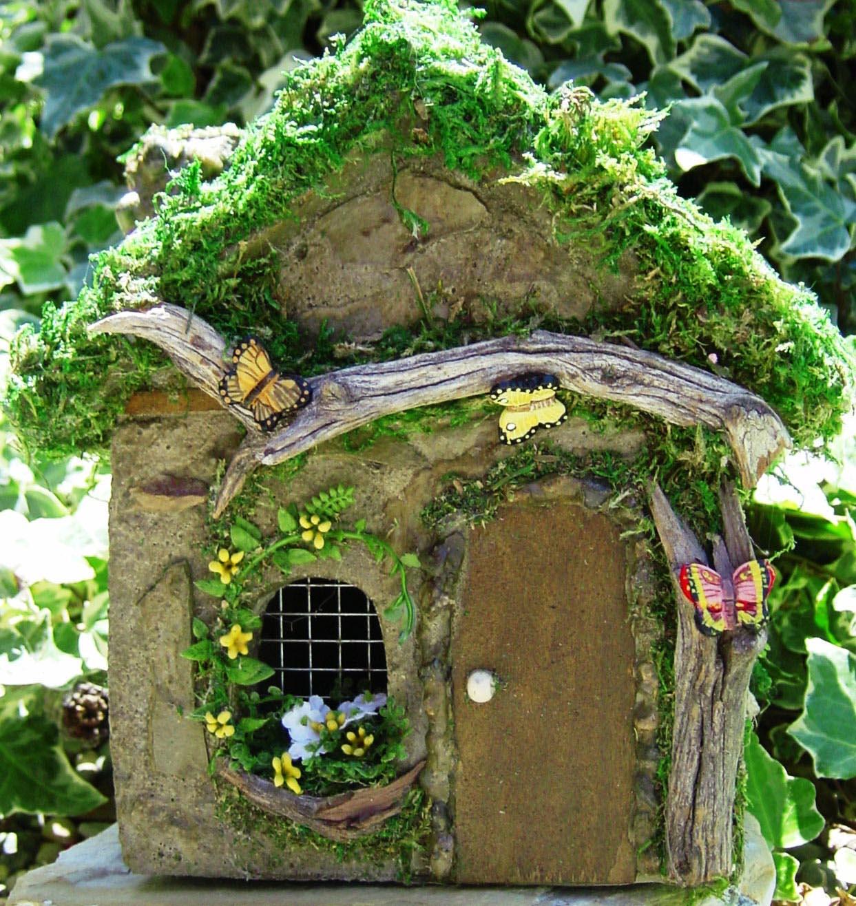 Fairy Houses in the Garden
