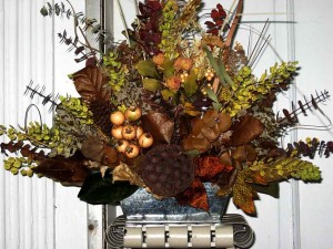 Fall Dried Flower Arrangements