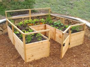 Fenced Raised Garden Bed Kit