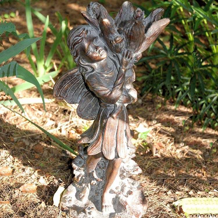 Flower Fairy Garden Statues