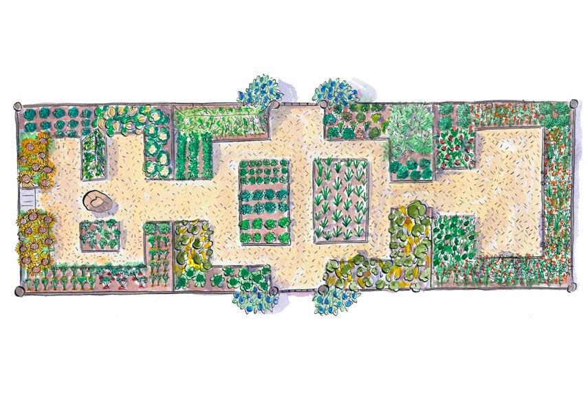 Free Flower Garden Plans and Designs