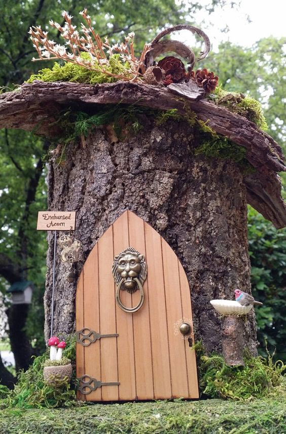 Garden Fairy Door Knocker