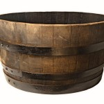 Half Wooden Barrel Planters