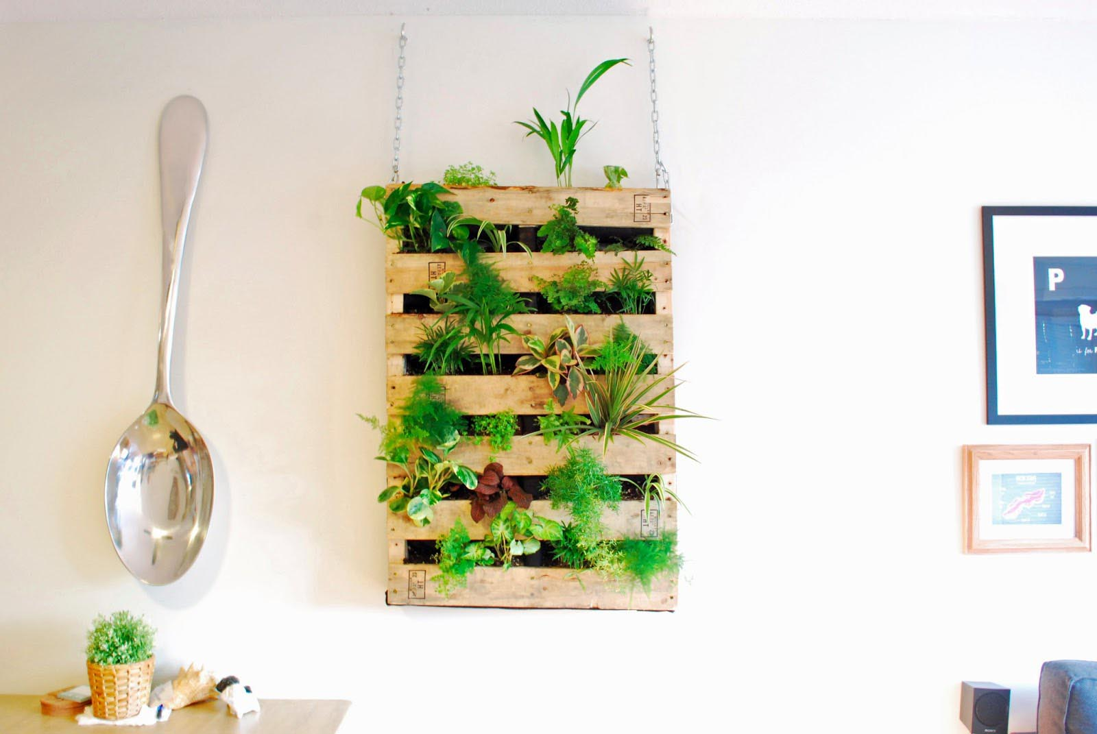 Indoor Living Wall Herb Garden