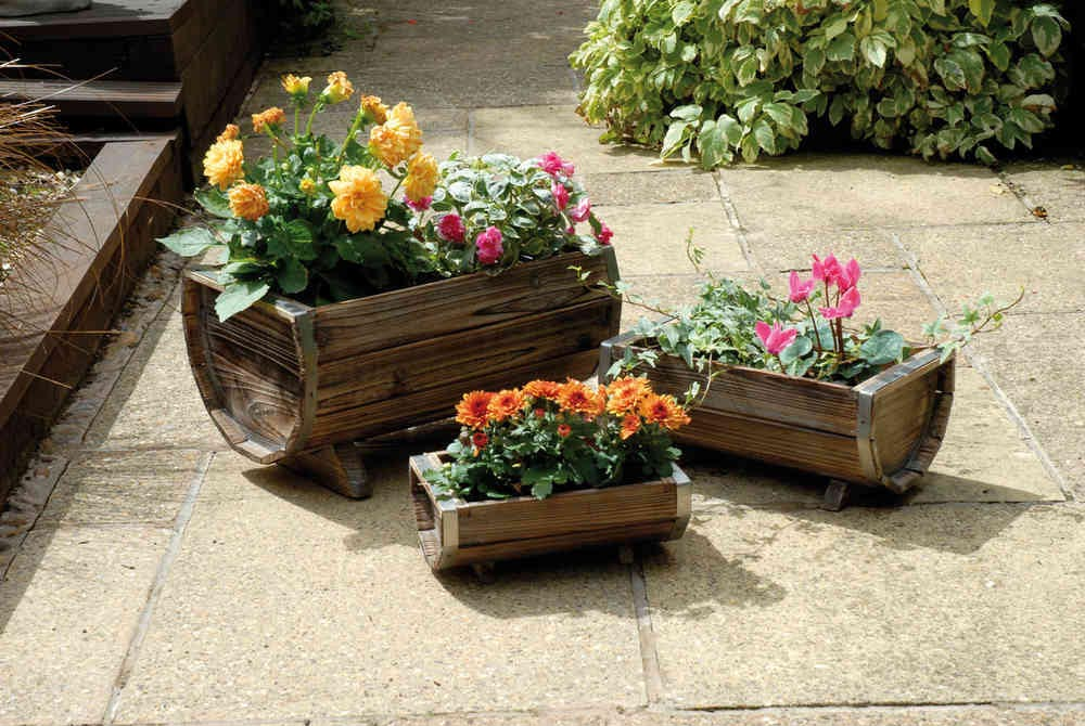 Large Garden Planters Wooden