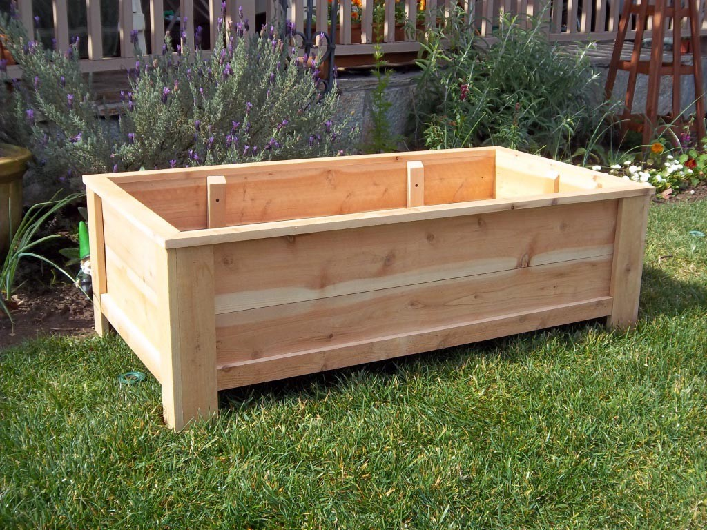 Large Outdoor Wooden Planters
