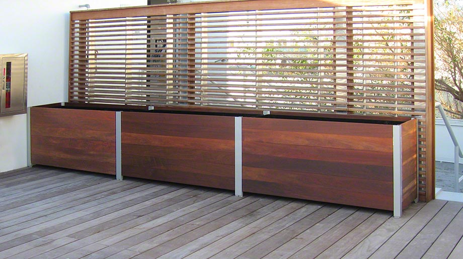 Large Rectangular Wooden Planters