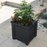 Large Square Wooden Planter Boxes
