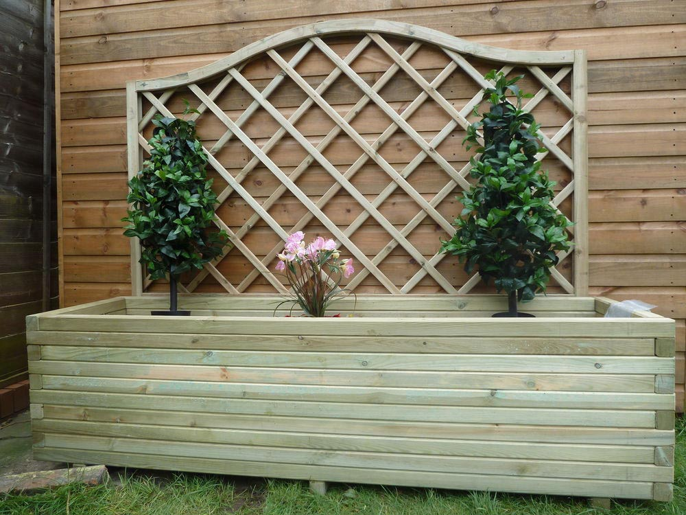 Large Wooden Garden Planters