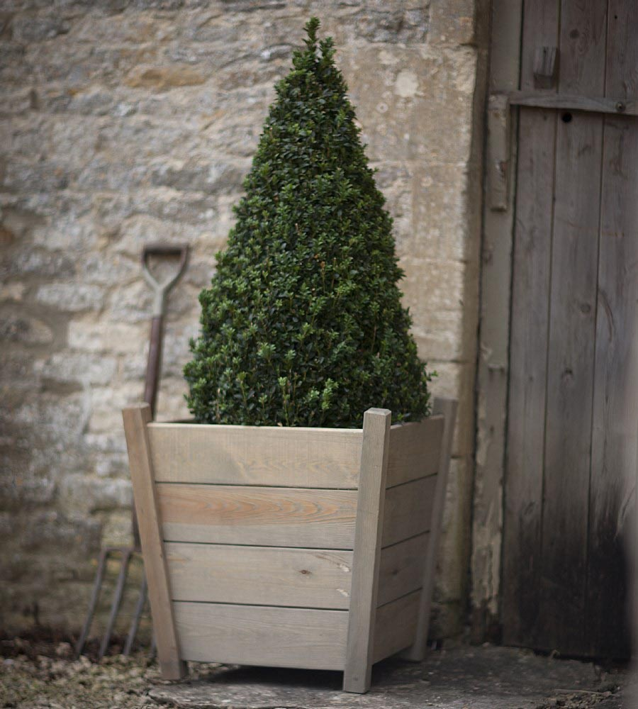 Large Wooden Outdoor Planters