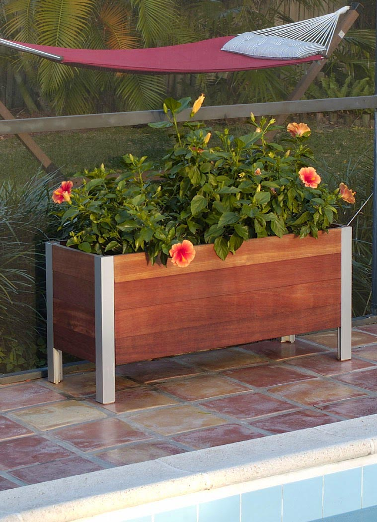 Large Wooden Rectangular Planters
