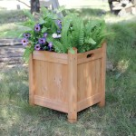 Large Wooden Square Planters