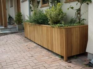 Large Wooden Trough Planter
