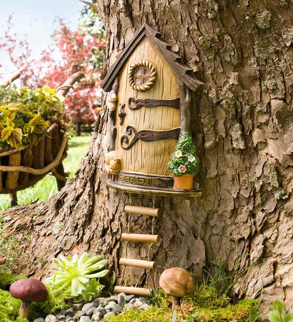 Miniature garden fairy door garden design ideas for Outdoor fairy door