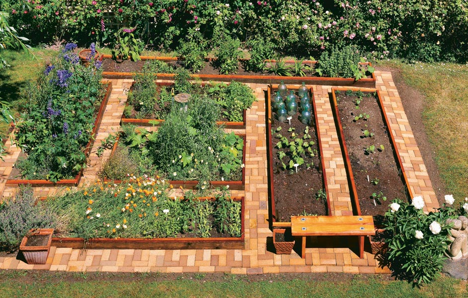 Raised bed vegetable garden layout plans garden design ideas for Vegetable garden bed design