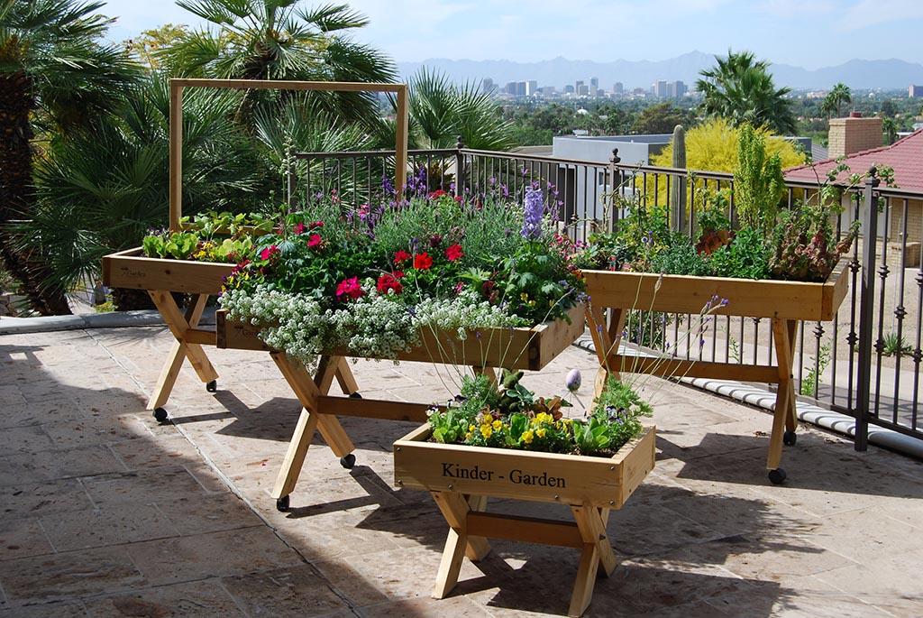 Raised Herb Garden on Wheels