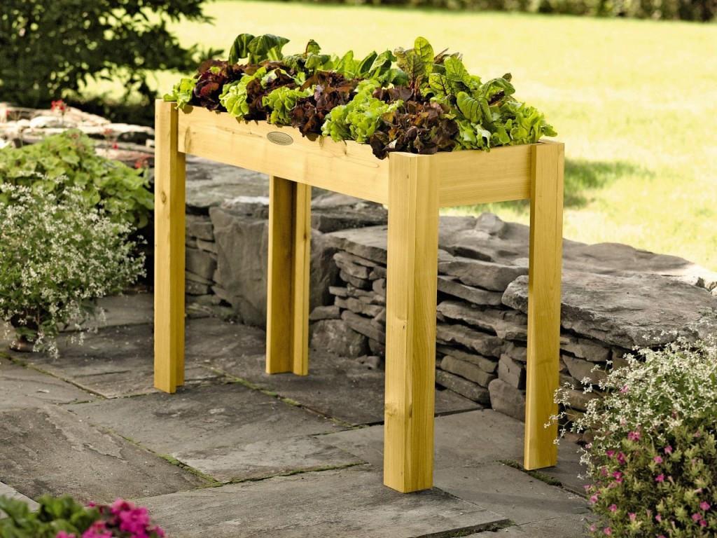 Raised Herb Garden Table