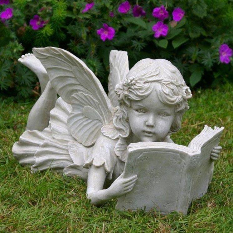 Reading Fairy Garden Statue