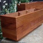 Rectangular Wooden Planter Boxes