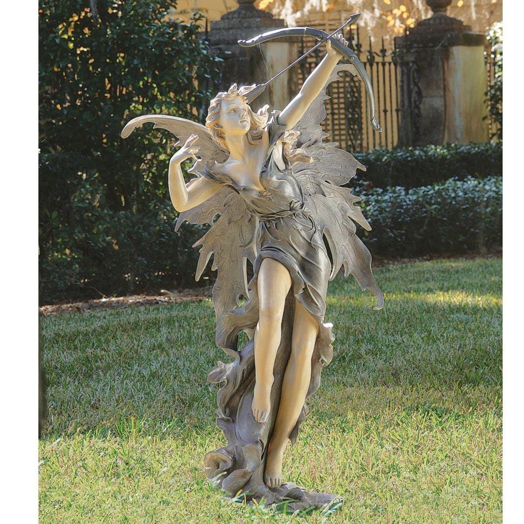 Rhiannon the Archer Garden Fairy Statue