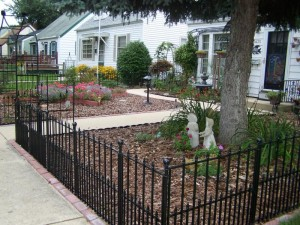 Small Wrought Iron Garden Fence