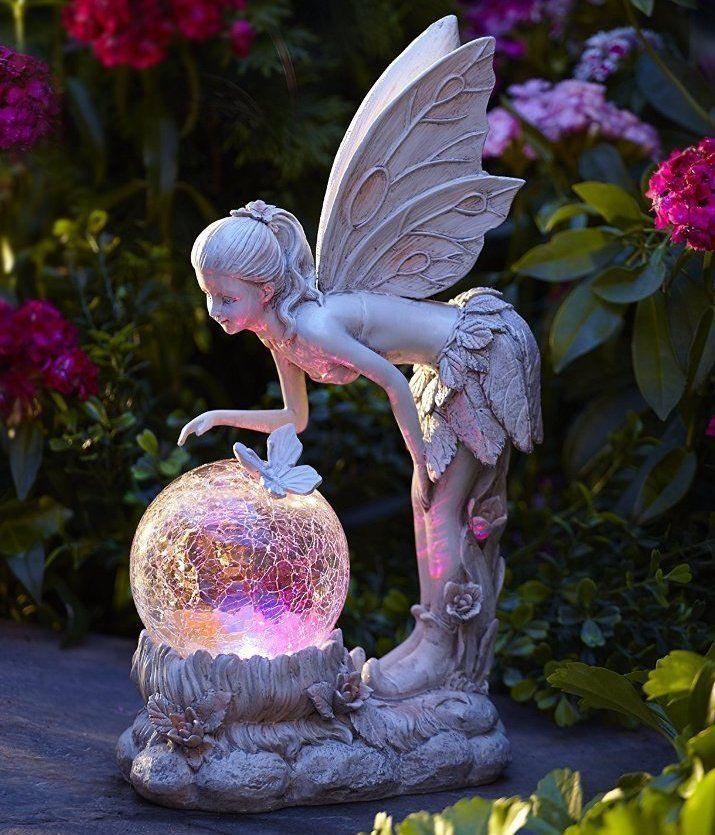 Solar Garden Fairy Statue