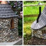 Stone Fairy Garden Houses