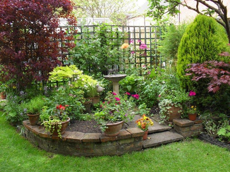 Sunny flower garden plans garden design ideas for Sunny landscape designs
