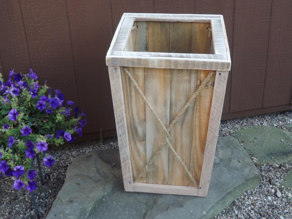 Tall Wooden Planter Boxes