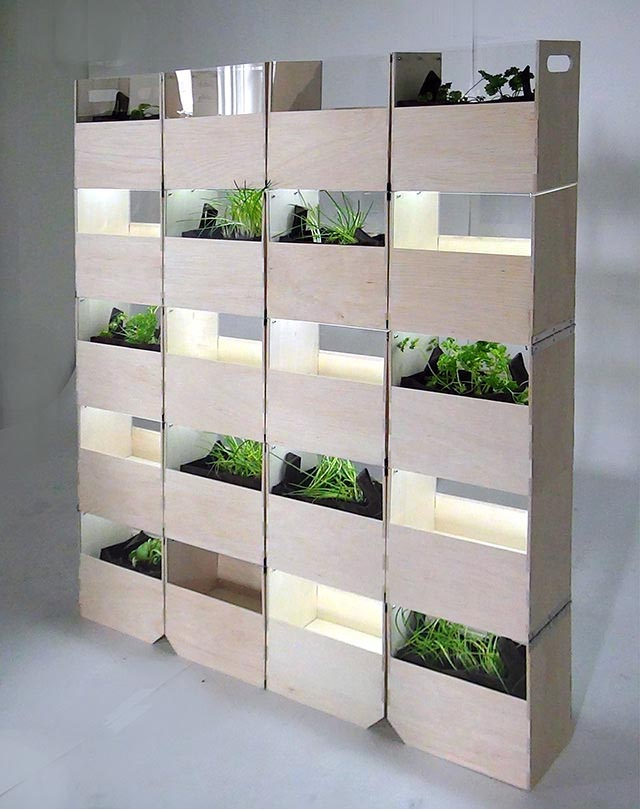 Wall Herb Garden Design