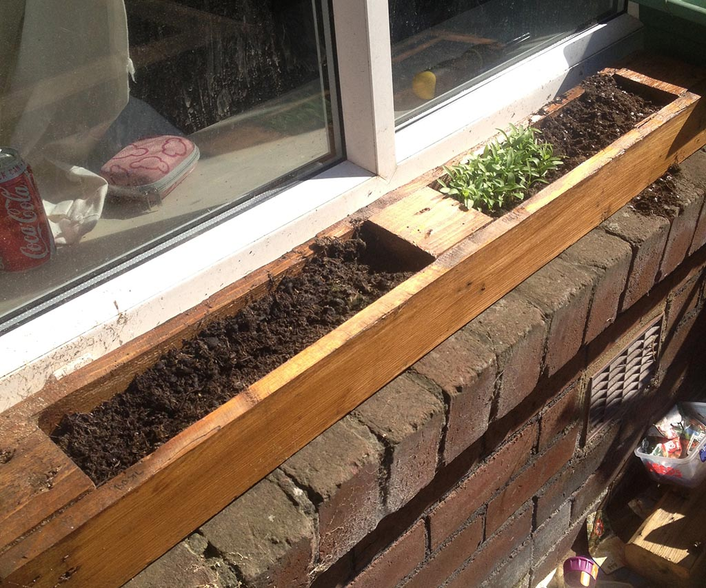 Window Sill Herb Garden Box