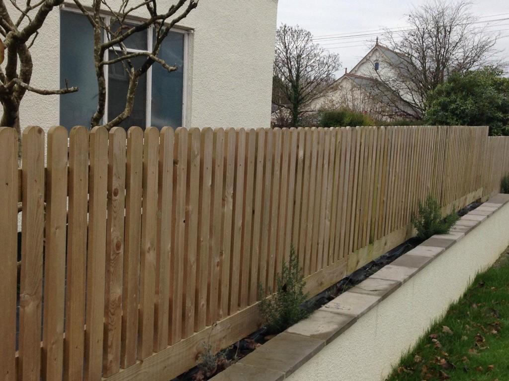 Wood Garden Fence Kit