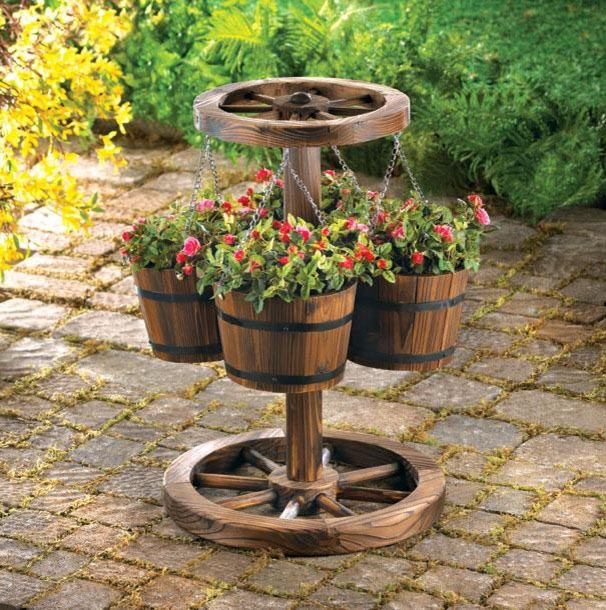 Wooden Barrels for Planters