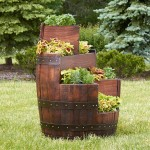 Wooden Beer Barrel Planters