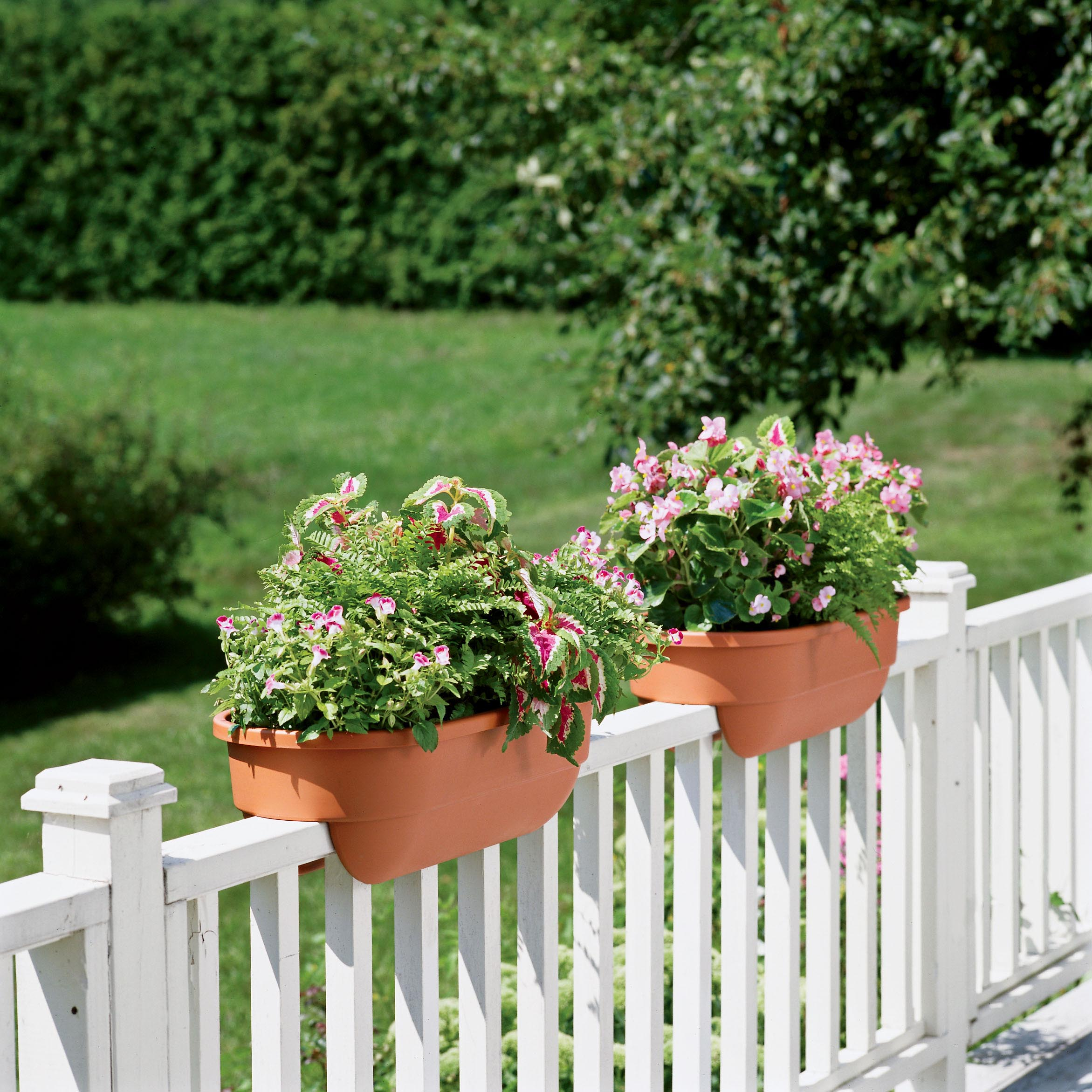 Wooden Deck Rail Planter Boxes