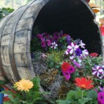 Wooden Half Barrels for Planters