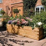 Wooden Trough Planters Large
