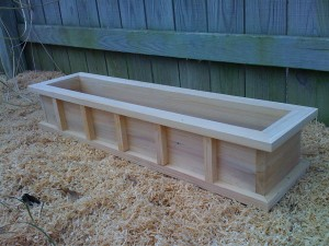 Wooden Window Planter Boxes