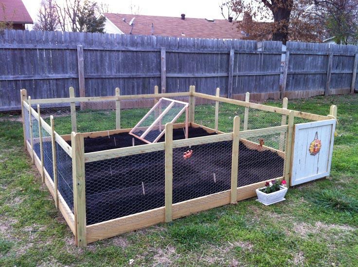 Chicken wire fence around garden design ideas